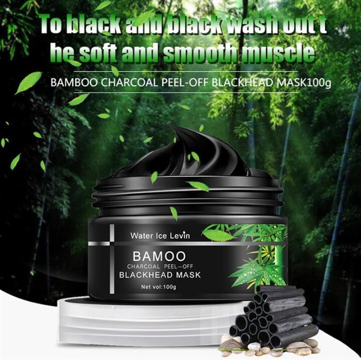 Bamboo Charcoal Black Mask Peel Off Nose Blackhead Dead Skin Clean Blackhead Pores Shrink Face Care Tool