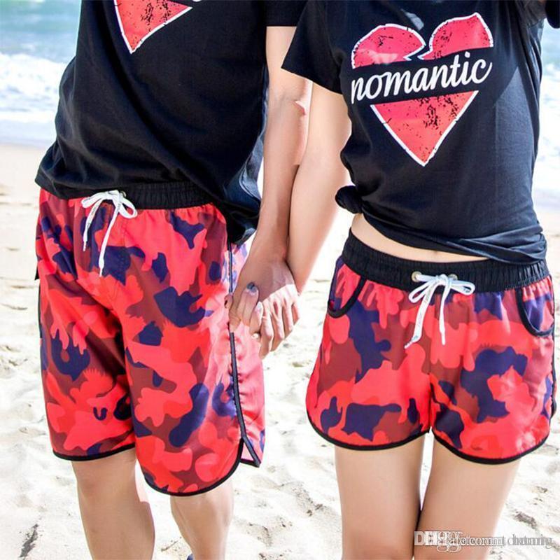 08d34c5bef 2019 2018 Summe Lovers Board Shorts Swimwear Beach Surf Short Swimsuits  Quick Drying Swim Shorts Sports Women Beach From Tontang, $32.42 |  DHgate.Com