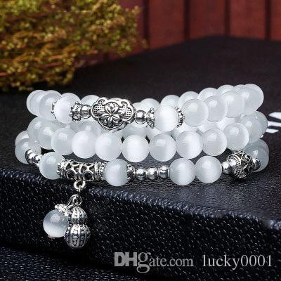Fashion Multi-turn Opal Peanut Pendant Bracelet Colorful Stone Ms. Bracelet Crystal Fashion Jewelry Hand Bracelet Wholesale