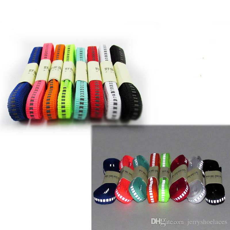 3M Reflective Unisex Shoelaces Visible Safety Cordon Shoestrings Luminous String For Shoes Running Climbing At Night