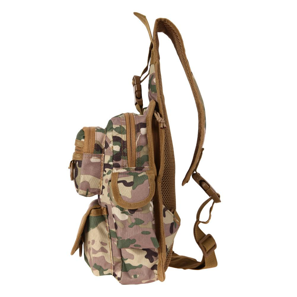 600D Oxford Fabric Chest Bag with Molle Military Pouch Tactical Shoulder Men Women Backpack Strap Camping Hiking Bags Black