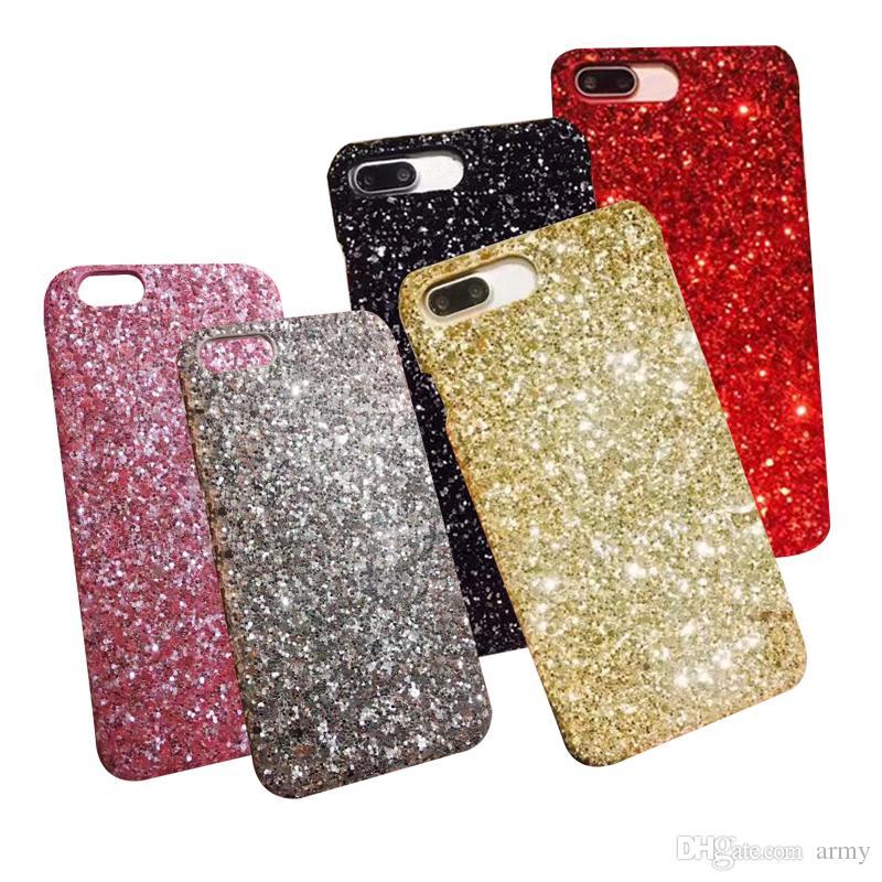Gold Bling Bling Powder Siliver Telefon-Kasten für Mobiltelefon-Bulk-Luxus Sparkle Strass Kristall Mobile Gel Cover