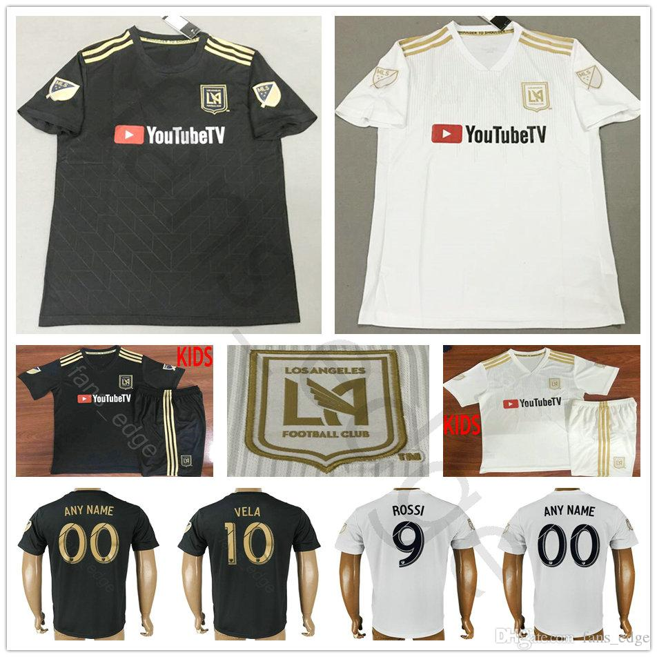 032395d100d 2019 2018 2019 Los Angeles FC Soccer Jersey 4 GABER 9 ROSSI 10 VELA CIMAN  ZIMMERMAN Home Away Custom LAFC Adult Kids Football Shirt From Chen_shop,  ...