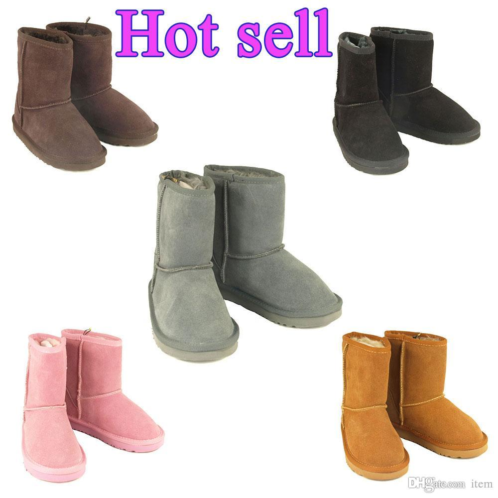 3a3018aed0a 2018 High Quality 5281 Boys and girls Women s Classic tall Boots Womens  Boot Snow boots Winter boots leather boot US SIZE 1--13