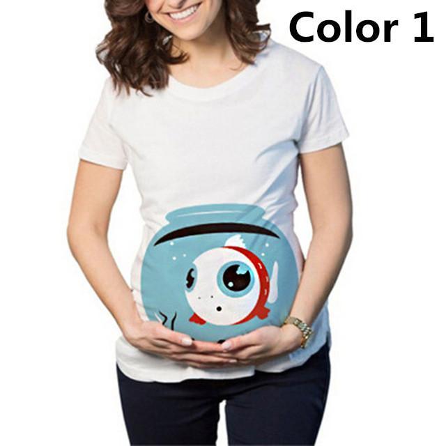 Acquista Summmer Maternity Tops Shirt Mamma Incinta T Shirt Divertenti  Abbigliamento Donna Incinta T Shirt Manica Corta A  28.28 Dal Yuan0907  9a1140a8576