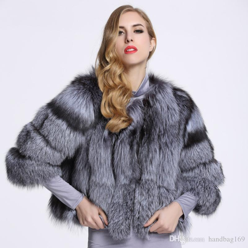 9506096f4 2018 New Fox Fur Coat Women Silver Fox Fur Coat Autumn Winter Warm ...