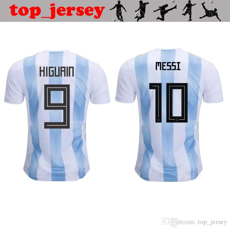 0cf0c909a 2019 2018 New Argentin World Cup Soccer Jersey Thai Quality MESSI Home Away  AGUERO DYBALA DI MARIA HIGUAIN ICARDI Argentin Football Shirt From  Top jersey