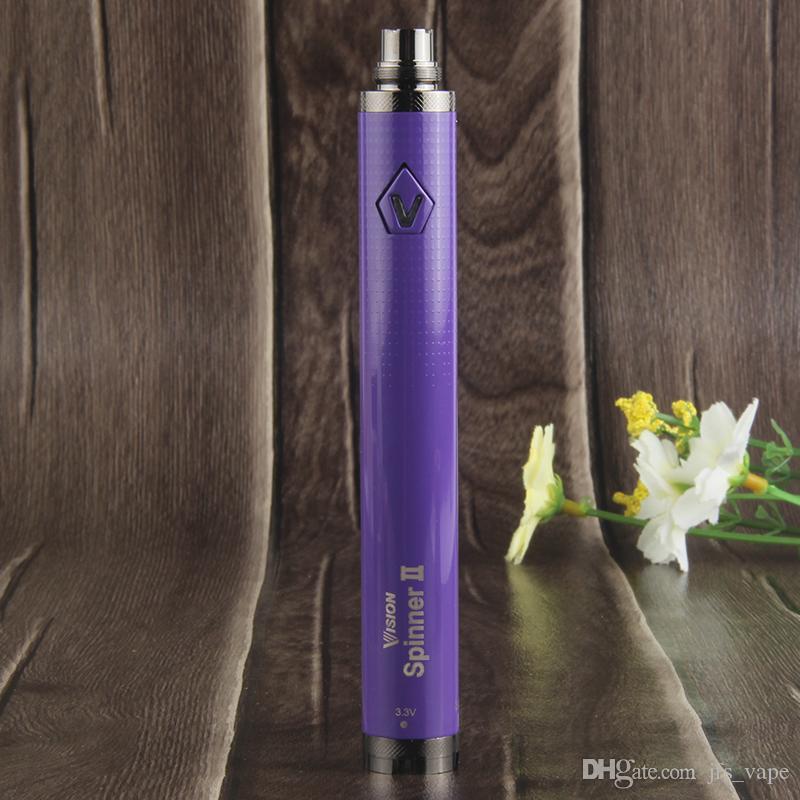 2018 E Cigarette Vape Battery Vision 2 II Ego Evod Twist Adjustable 3.3-4.8V Variable Voltage 1650mAh Vaporizer Pens+USB Charger