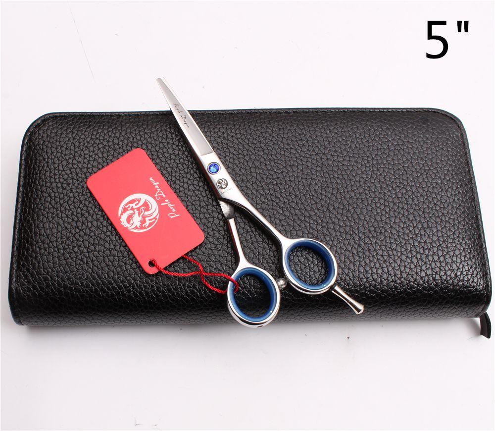 "Z1117 5"" 14.5cm Purple Dragon Laser Professional Human Hair Scissors Barbers' Hairdressing Scissors Cutting Thinning Shears Salon Style Tool"