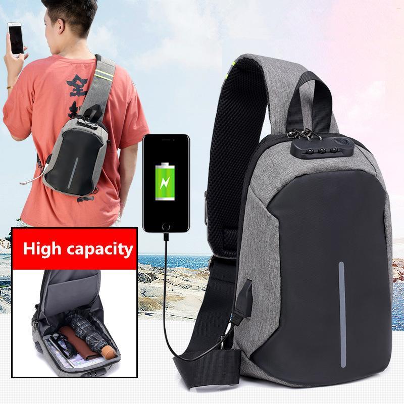 3fe5b3ee27 2018 New Anti Theft Chest Pack Men Single Shoulder Bag Male Crossbody Casual  Style Waterproof Travel Messengers Bolsa Feminina Ladies Handbags Book Bags  ...