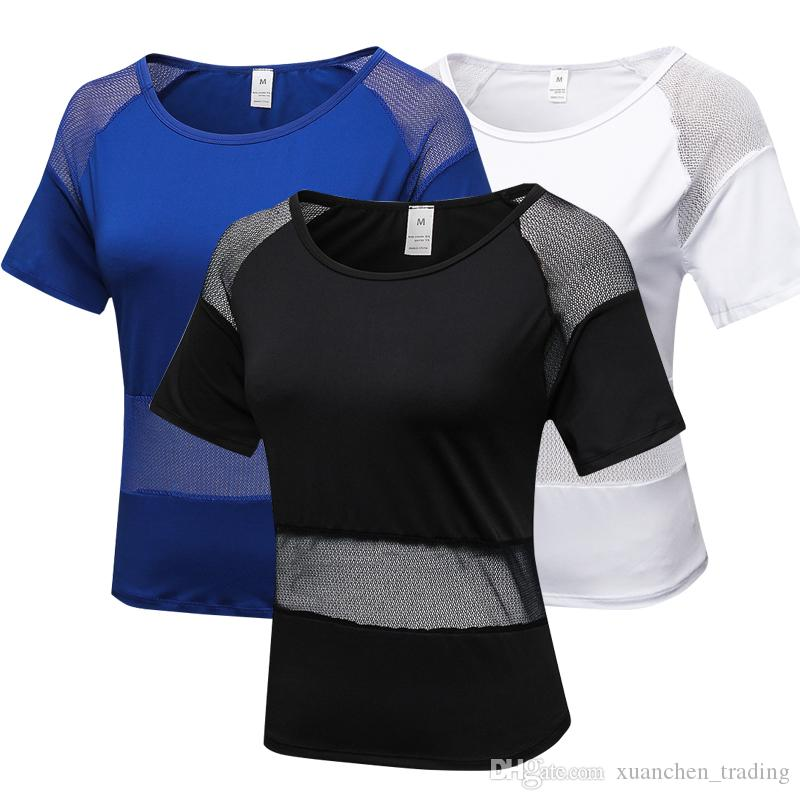 871e46afeefa3 2018 Cool Mesh Transparent Design Fitness Jersey Female Slim Yoga Shirt  Comfortable Women S T Shirts Quickly Dry Top Sportwear Buy Tshirt Political  Shirts ...