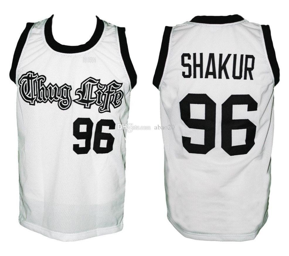 Tupac Shakur  96 Thug Life Retro Classic Basketball Jersey Mens Embroidery  Stitched Custom Any Number And Name Jerseys UK 2019 From Abao20 a54b2aeb6