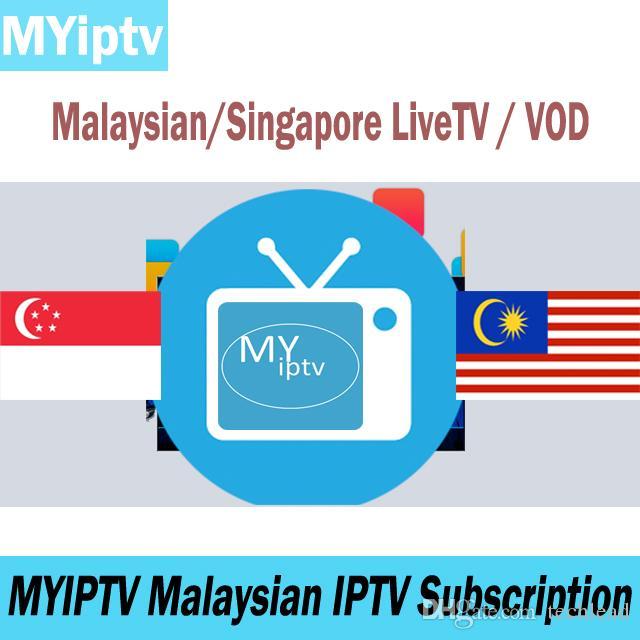 MYIPTV 4K Malaysian Subscription TV Singapour Chaînes IPTV en direct  Programme TV Abonnement indonésien VOD pour Android TV Box