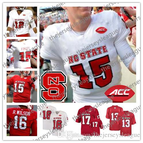 online store 6a7f5 7011e NC State Wolfpack #15 Ryan Finley 3 Kelvin Harmon 16 Russell Wilson 12  Jacoby Brissett White Red Stitched NCAA College Football Jerseys
