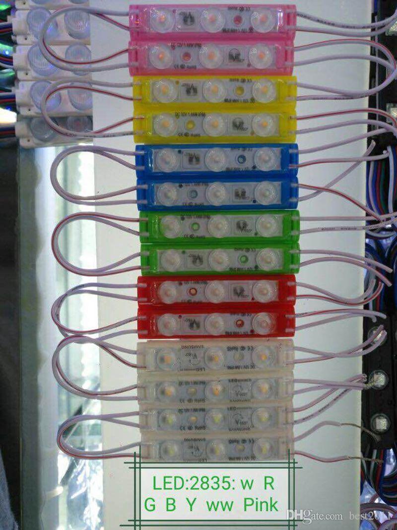 Best2011 LED Module 2835 SMD IP68 Waterproof Injection Lens LED Sign Advertising Backlight 70*14MM Pixel Light DC 12V
