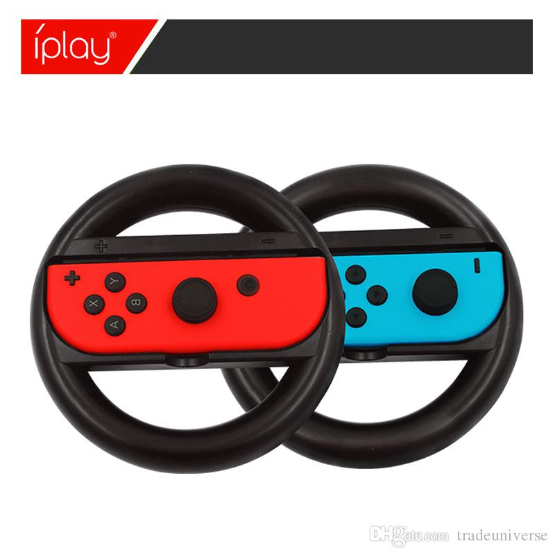 Racing Game Steering Wheel For Nintend Switch Black Color Remote