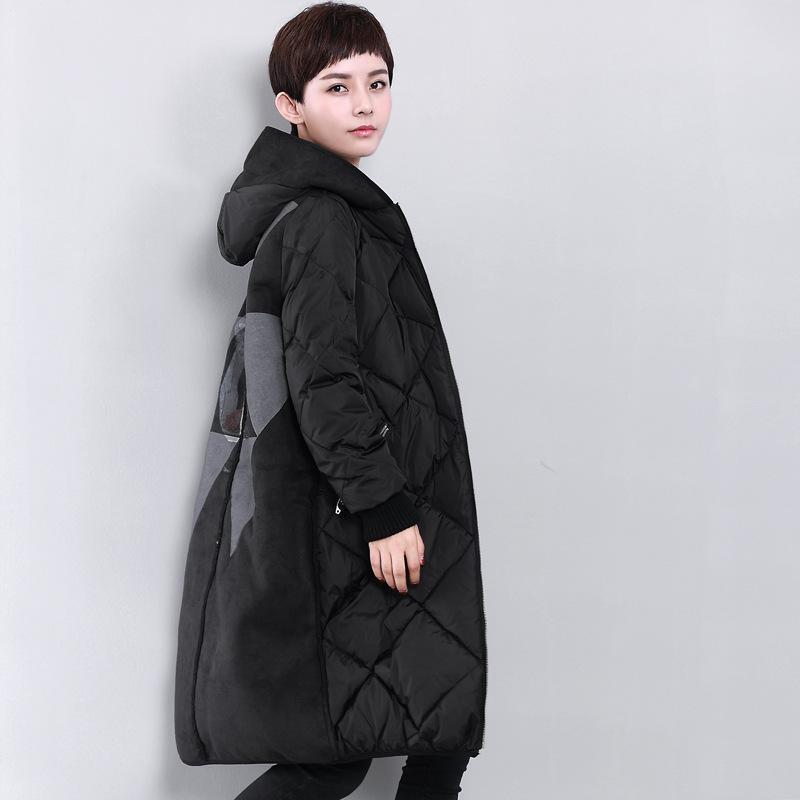 2017 Down Coats Womens Parkas Hooded White Duck Jacket Female Winter Jacket Light Weight Parkas Coats