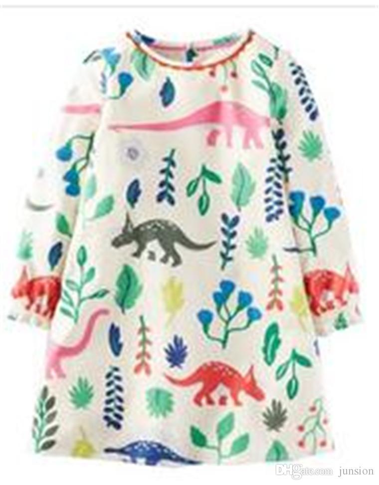 c1b52f450dacf Girls Christmas Cotton Long-sleeved Print Dress XMAS Cartoon Unicorn Fox  Printed 2019 Prince Dress Children Clothes Cosplay Clothing Princes