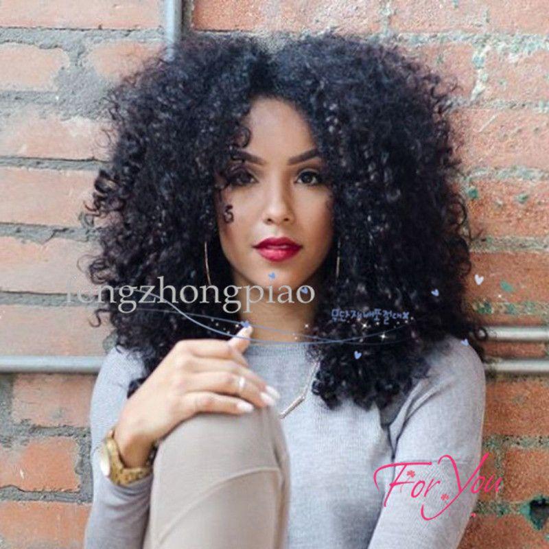 Short Curly Black Wigs For White Black Women 14 Inch Synthetic Hair Pelucas  Sinteticas Perruque Afro Wig Pruiken Peruk Factory Sales Wigs Online  Headband ... 773add98c