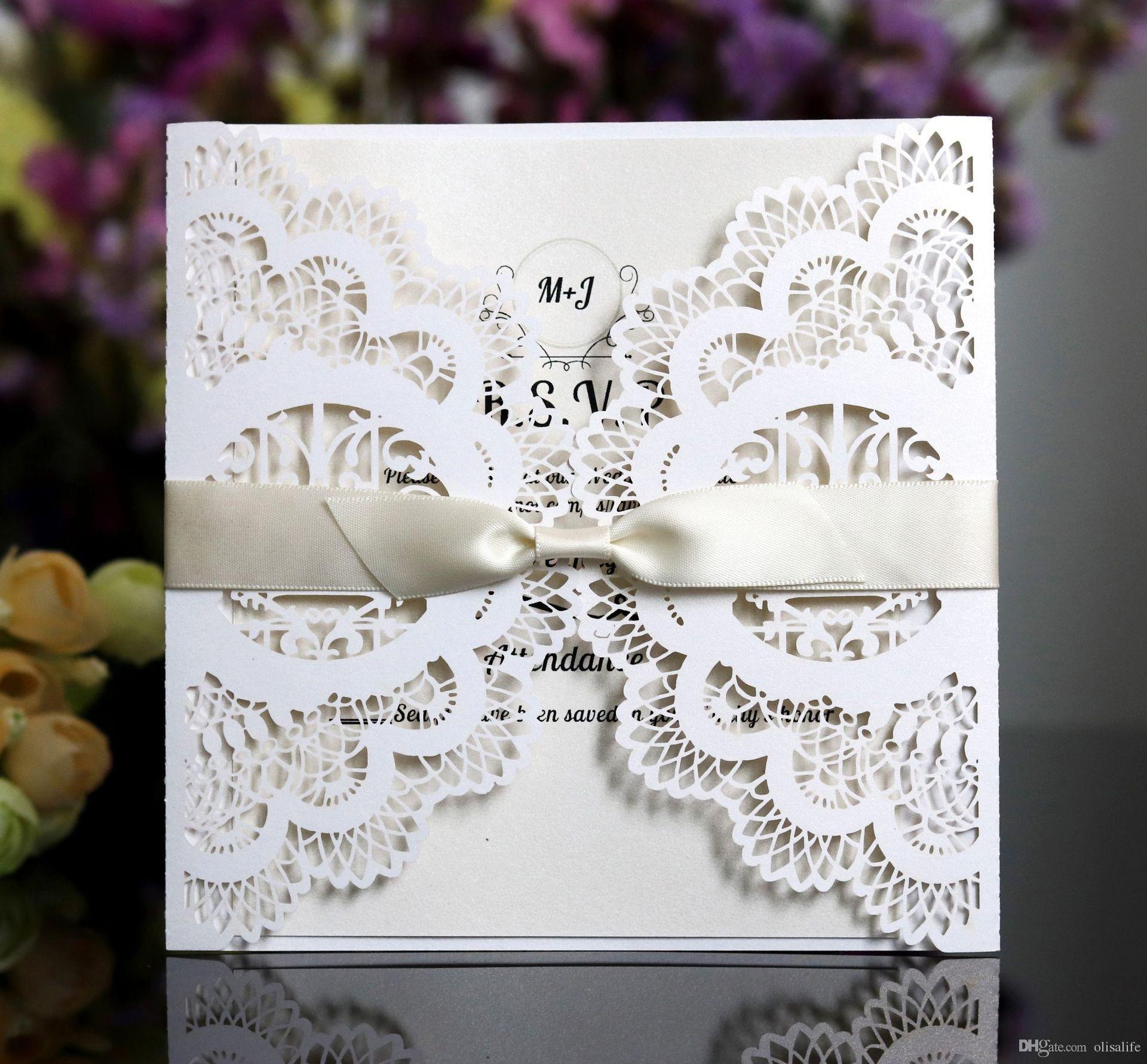 Laser Cut Pocket Wedding Invitation Suites, Customization Invites ...