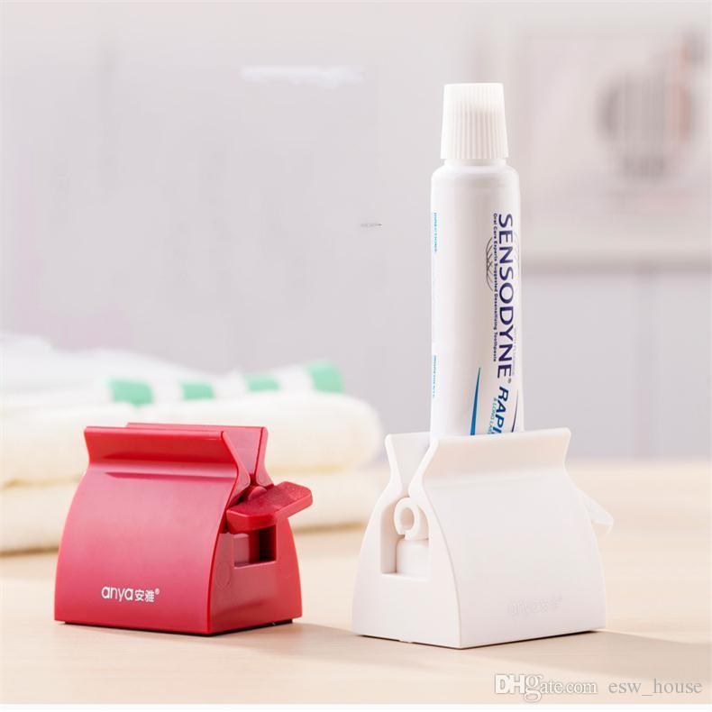 Tubo de rolamento criativo Pasta De Dente Esterlina Dispensador de Creme Dental e Creme tubo squeezer Escova de Dentes Titular Escova de Dentes