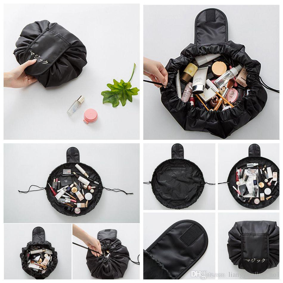 a62d9554487 2019 Lazy Cosmetic Bag Drawstring Makeup Bag Capacity Portable Drawstring  Storage Magic Travel Pouch Storage Bag OOA4337 From Liangjingjing no1, ...