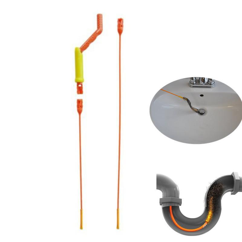 Drain Weasel Hair Anti-clog Tool Starter Kit Flexible Drain Snake ...