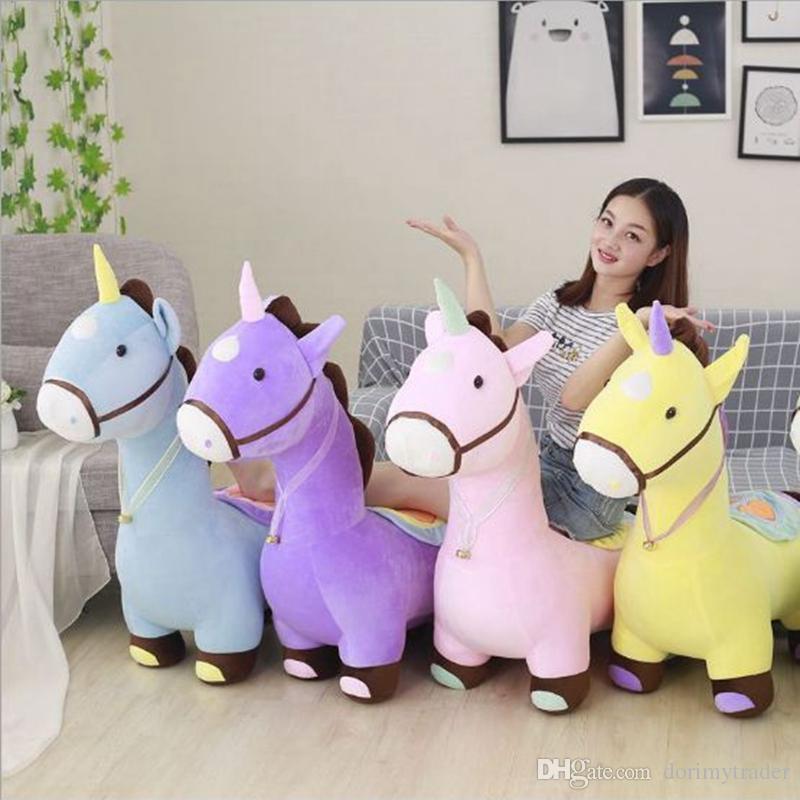 2019 Dorimytrader Soft Anime Unicorn Plush Sofa Toy Big Stuffed