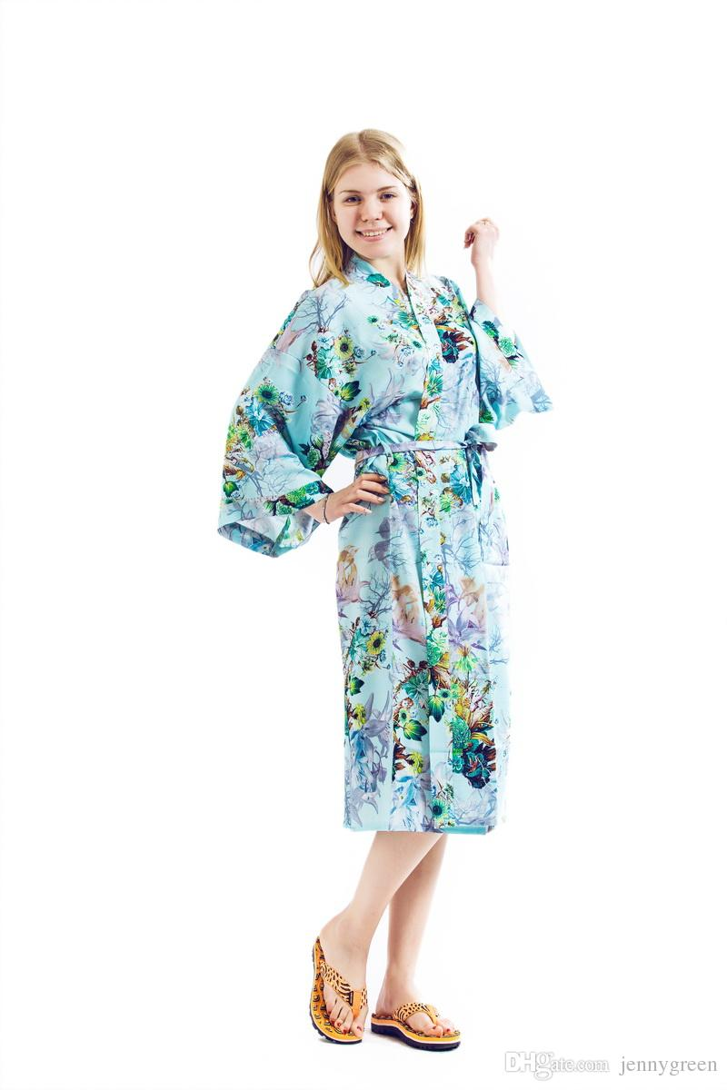 ec0adf6062d Long Cotton Wedding Gifts Bridesmaids Bride Nightgown Bridal Bride Robe  Waffle Robes Wedding Dress Floral Robe Robe Online with  22.85 Piece on  Jennygreen s ...