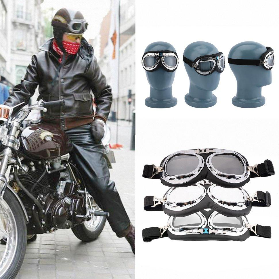 Hot Anti-UV Safety Motorcycle Scooter Pilot Goggles Helmet Glasses ... 5d684a31eb