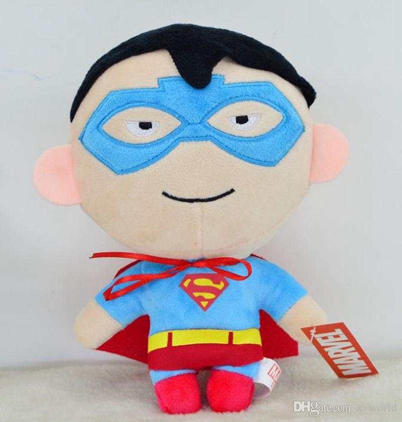 7 Styles With Gift Box The Avengers Captain America Spider man Thor Iron man Hulk Superman Plush Stuffed Toy Doll 20CM