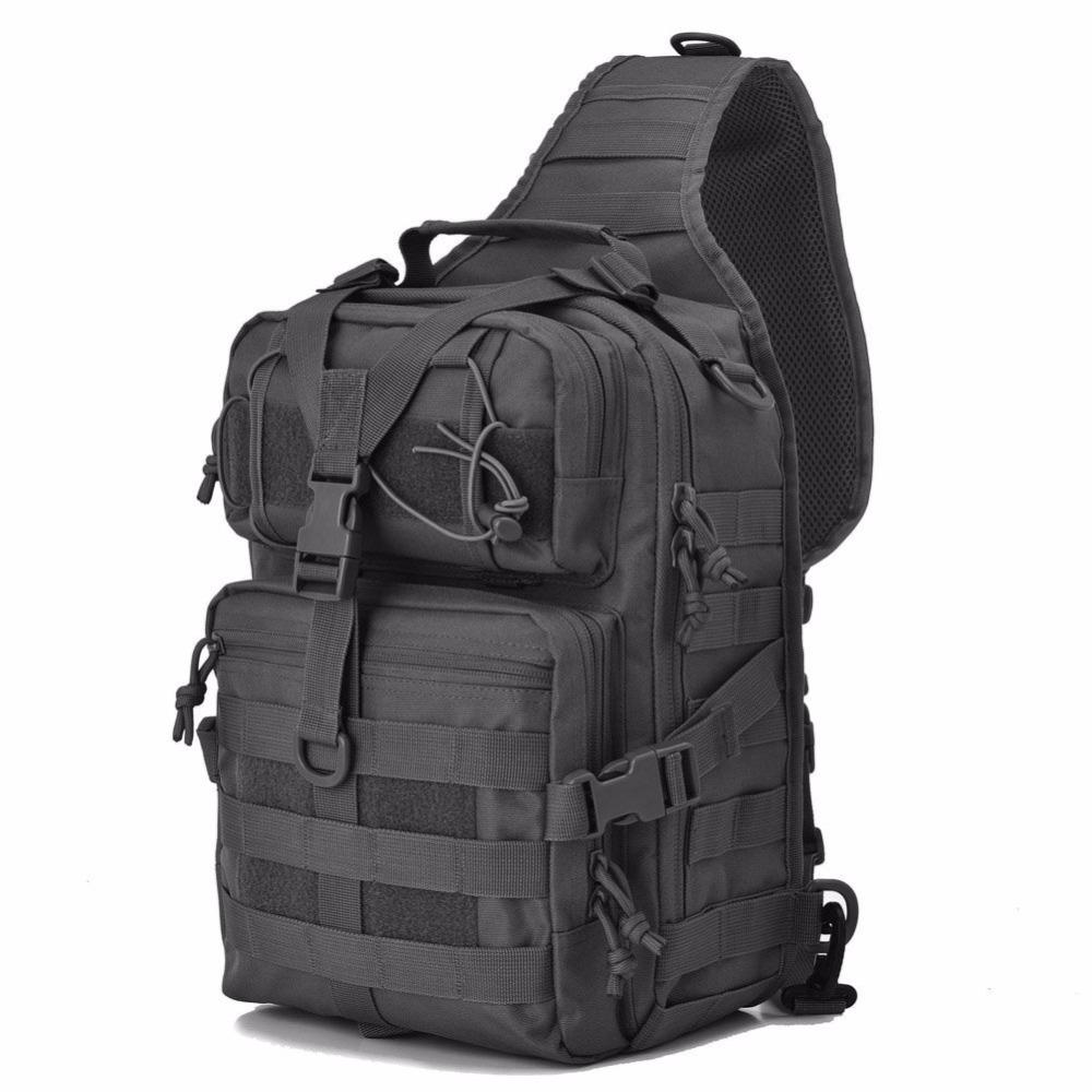 9590dff7f21e 2019 Military Tactical Assault Pack Sling Backpack Army Molle Waterproof  EDC Rucksack Bag For Outdoor Hiking Camping Hunting 20L From Sportblue