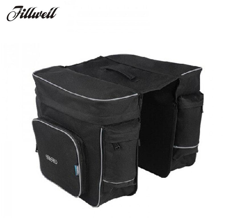 Waterproof Bicycle Bag 10L Portable Bike Bag Pannier Rear Rack Tail Seat Trunk Pack Cycling MTB Bike Accessories