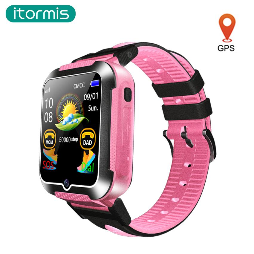 59a92208bb Relojes Chinos Itormis Kids Reloj GPS Reloj Inteligente Con GPS SmartWatch  Soporte Telefónico Tarjeta SIM Cámara De Ubicación SOS WhatsApp Facebook  Para ...