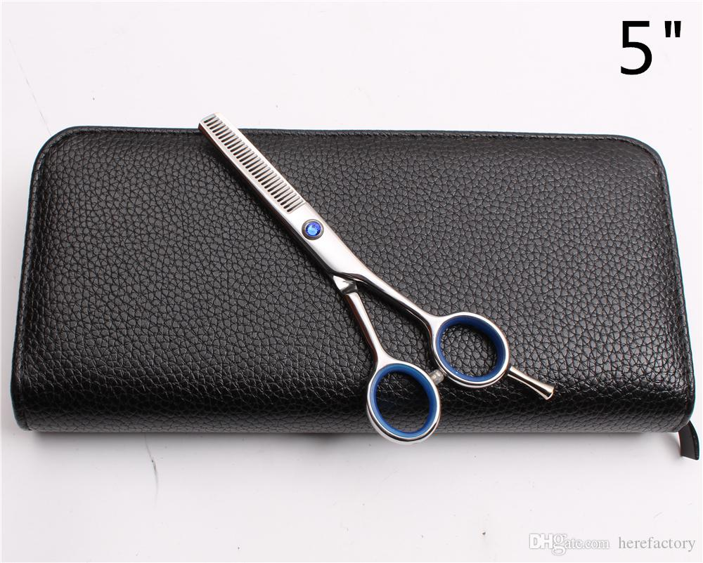 "C1117 5"" 14.5cm JP 440C Customized Logo Professional Human Hair Scissors Barber Shop Hairdressing Scissors Cutting Scissors Thinning Shears"