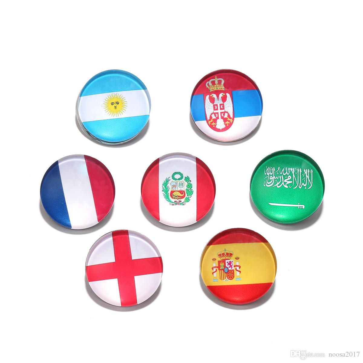 23d5d8bb96e76 2018 Europe and the United States new accessories Russia s World Cup  clothing jewelry flag brooches for men and women fans