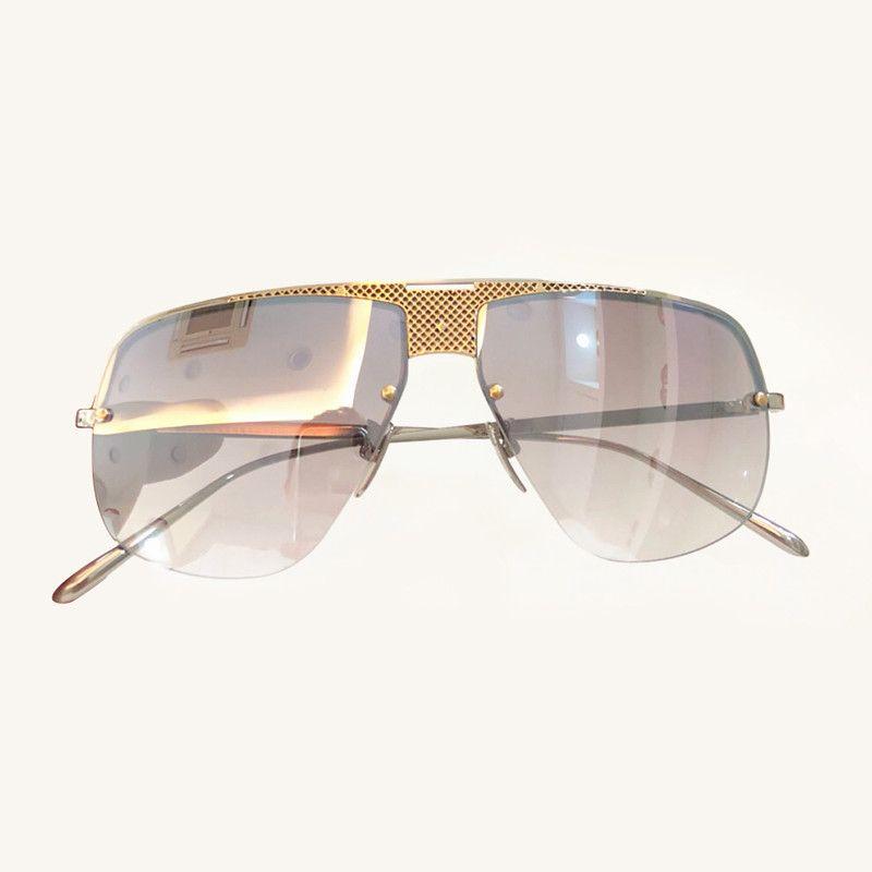 1a09862c5b24 Fashion Vintage Semi-Rimlesss Sunglasses Big Size Frame Square Sunglasses  for Women Mens UV400 Glasses Lens with Original Box Sunglasses Cheap  Sunglasses ...