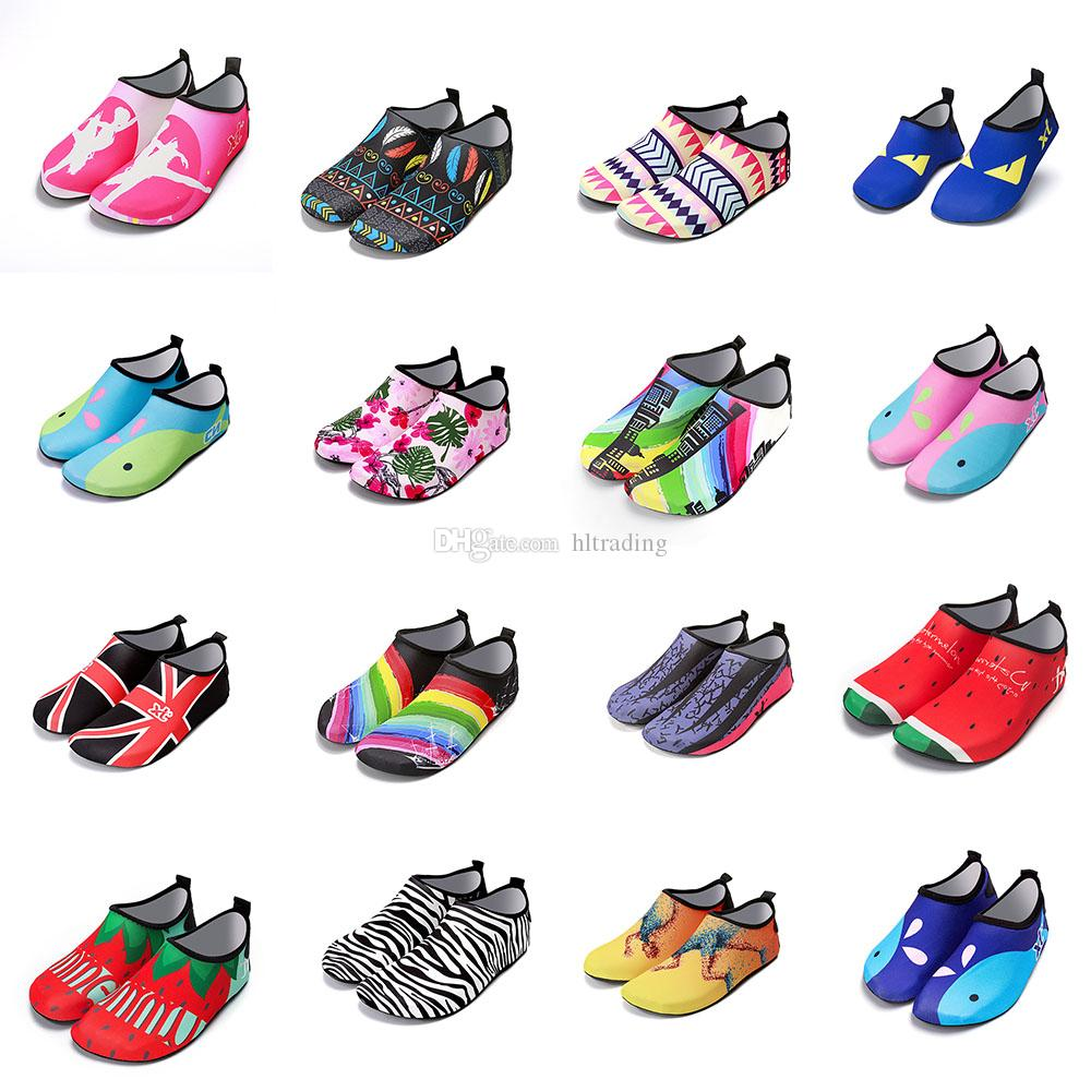 07381addc Diving Beach Mesh Shoes Non Slip Barefoot Water Sports Skin Shoes Aqua  Socks Adults Kids Swimming Surfing Yoga Exercise Shoes C4616 Buy Kids Shoes  Kids Slip ...