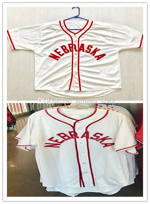 separation shoes 8d168 96e02 Customized College Nebraska Cornhuskers Men -s Womens Kids Jersey 100%  Embroidery Custom Any Name Any No S-4XL Baseball Jerseys White Cheap
