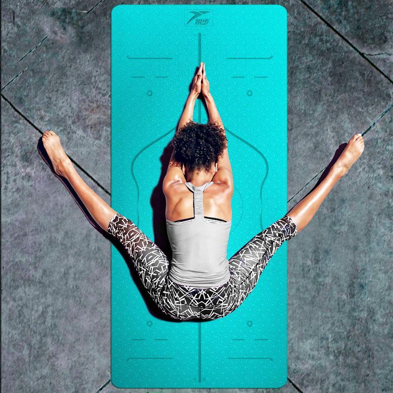 4de10e5a6 Compre Heathyoga Eco Friendly Antideslizante Estera De Yoga