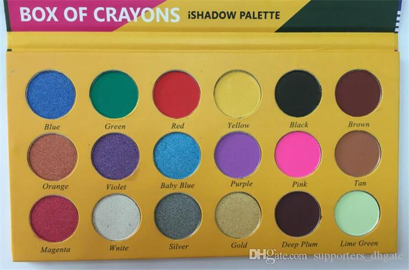2018 makeup Eyeshadow Palette Box of crayons ishadow palette Cosmetics Shimmer Beauty Matte Eye shadow THE CRAYONS CASE DHL