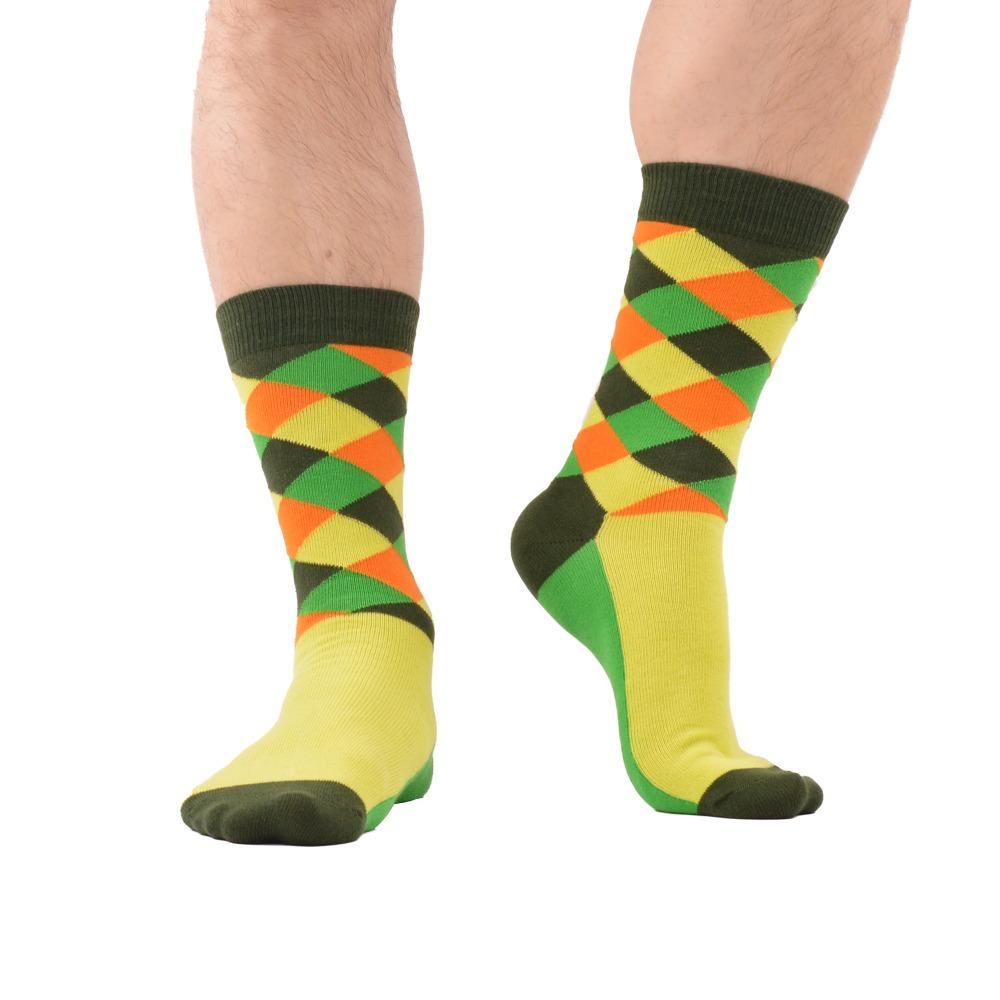 f2a7fe798 2019 /Luxury Men Socks Bright Colorful Combed Cotton Socks Funny Argyle  Pattern Casual Dress Socks Wedding Gift From Clothingdh, $25.18 | DHgate.Com