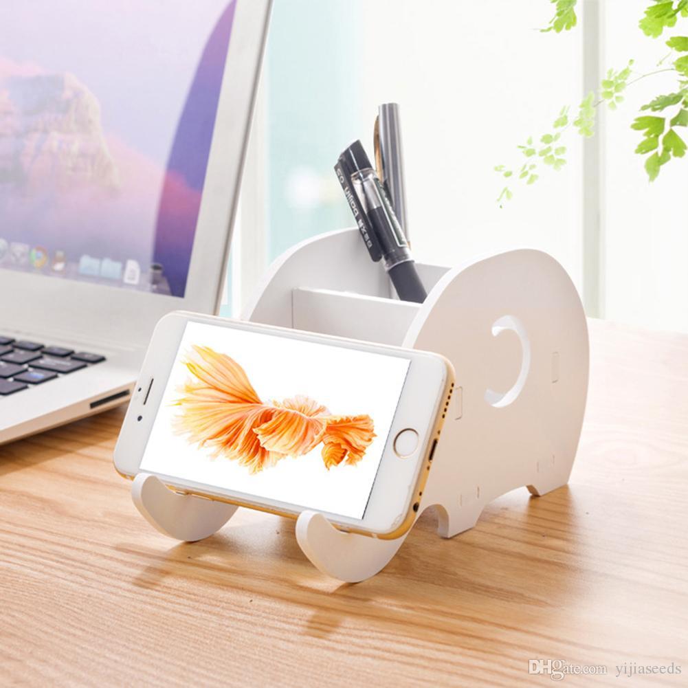 Hatoly Diy Universal Cell Phone Holder Cute Elephant Desk Holder