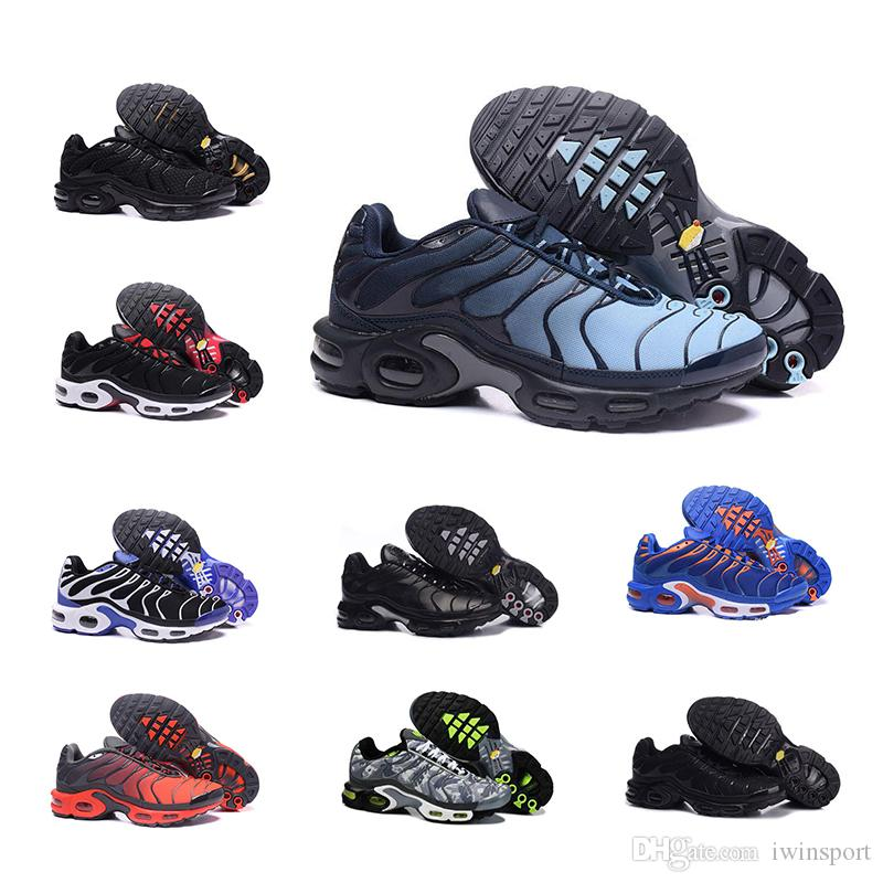 best loved 5d973 fc333 Acheter Nike Air Max TN Max TN Hot TN Plus Chaussures De Course En Plein Air  Chaussures De Course Tn Noir Blanc Sport Baskets De Sport Hommes Requin  Olive ...