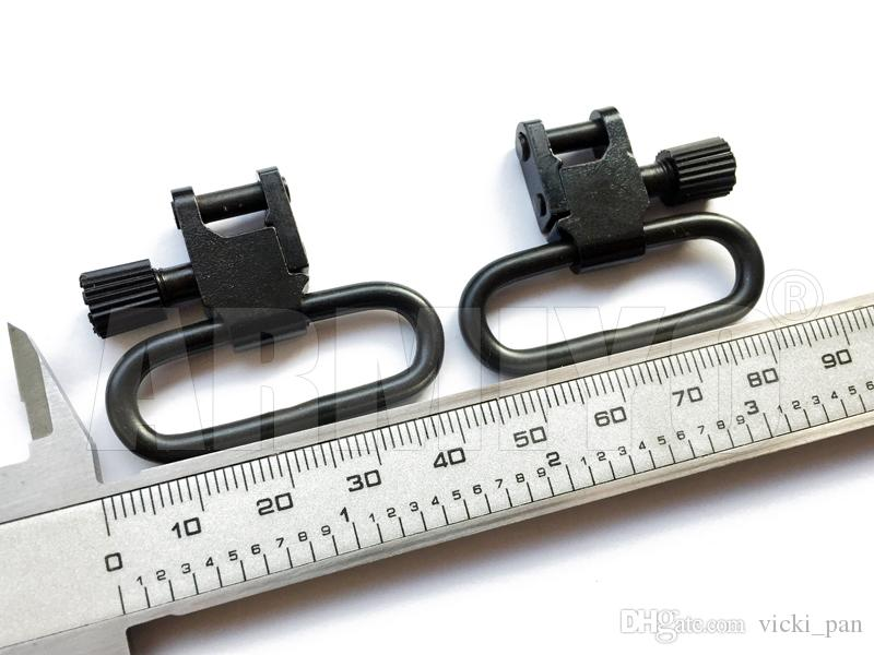 "Armiyo 1.25"" 1.1/4"" 32mm Hunting Rifle Gun Sling Swivels Fit with Quick Release Bases already mounted 1403-3"
