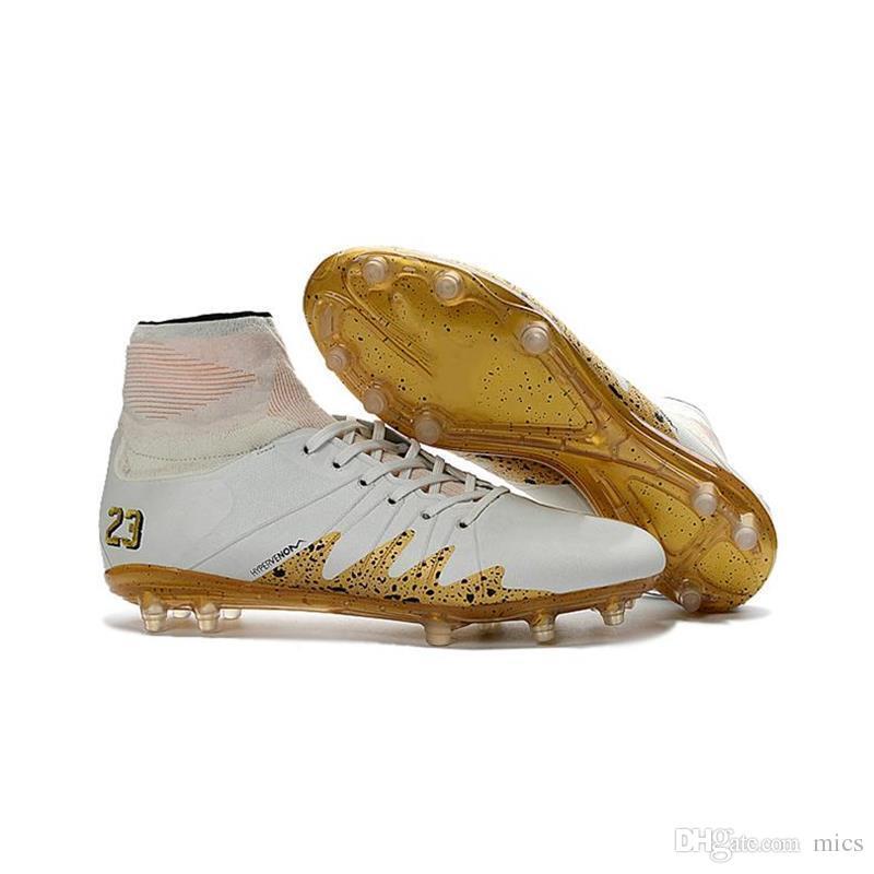 910dbe0778e8 2019 2017 Neymar JR Soccer Cleats Mercurial Superfly FG CR7 Hypervenom  Phantom Gold Football Boots Men High Ankle Soccer Cleats From Mics, $67.95    DHgate.