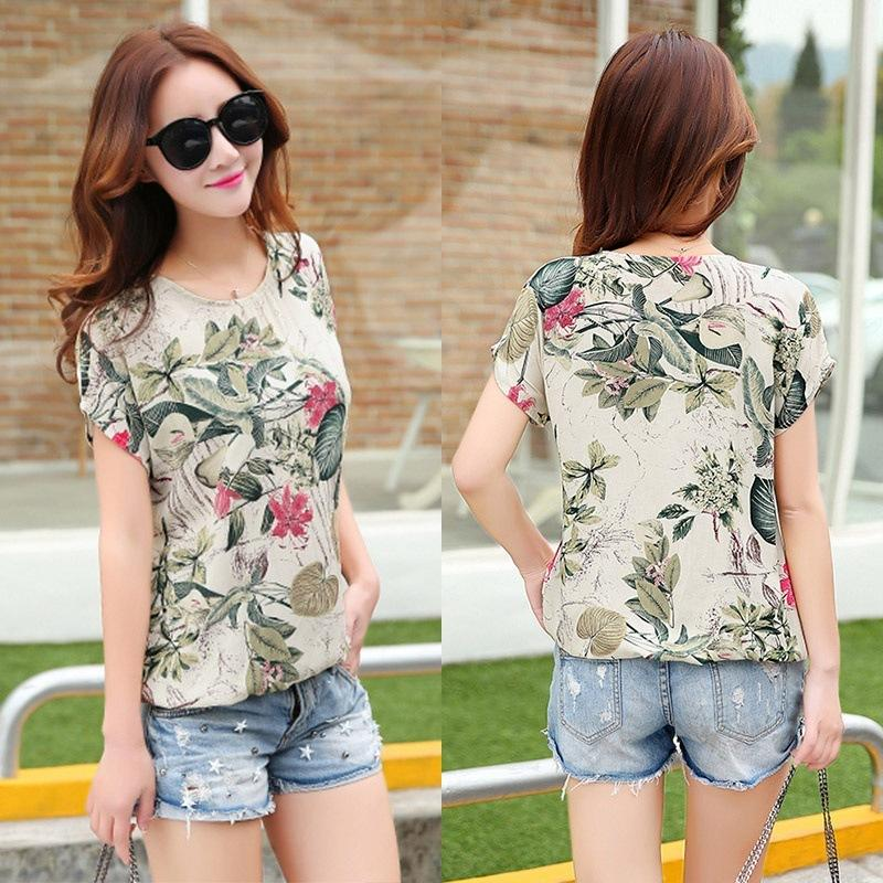 c2be4a30eb2 2019 Floral Print Women S Blouses Ladies Shirts Summer Tops Casual Plus  Size Blouse Shirt Fashion Korean 2019 New Blusas Female From Jamie22