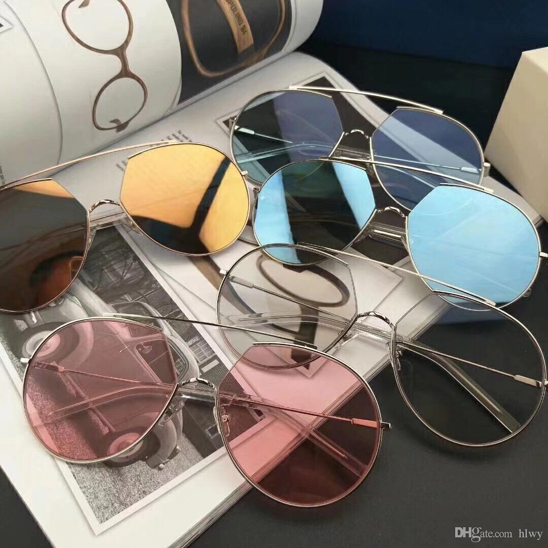GM Z-1 Hommes Femmes Lunettes De Soleil De Mode Ovale Lunettes De Soleil Protection UV Revêtement Revêtement Lentille De Miroir Sans Cadre De Couleur Plaqué Cadre