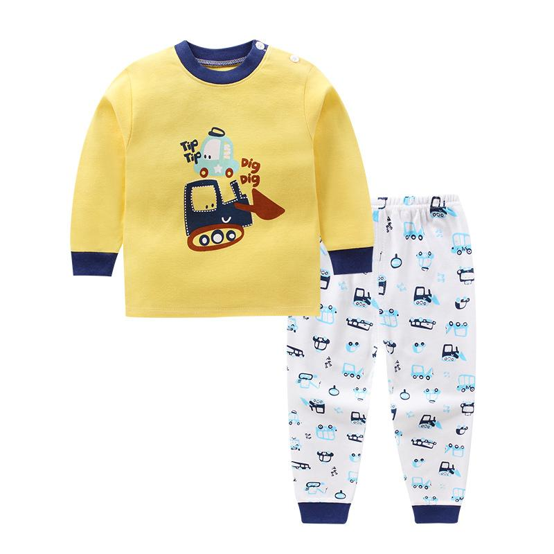 2018 Winter Baby Pajamas Fashion 100% Cotton Baby Set Boy Girls Clothes  Cartoon Newbor Clothing Long Sleeve Infant Outfits From Sophine13, $34.05    DHgate.