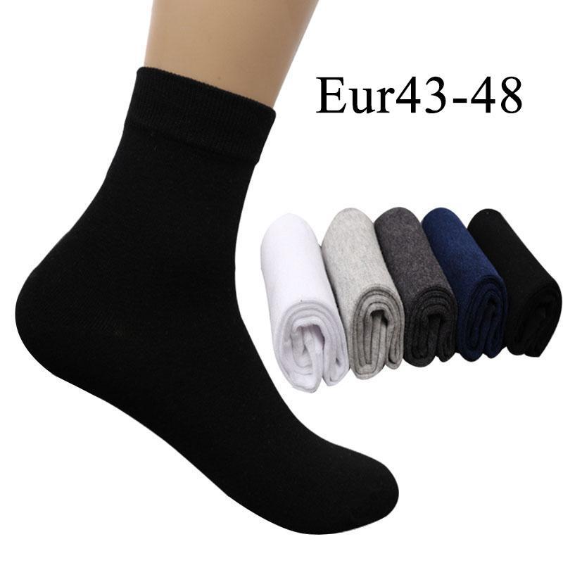 e903aea88e2 2019  Mens Cotton Dress Socks Plus Large Big Size 44